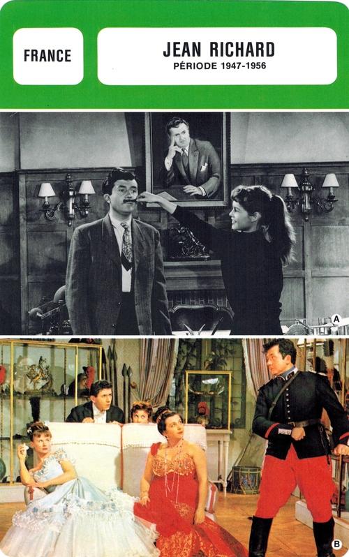 """Jean Richard dans les """" fiches de Monsieur Cinéma"""""""