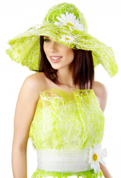 Tubes femmes en vert png 2
