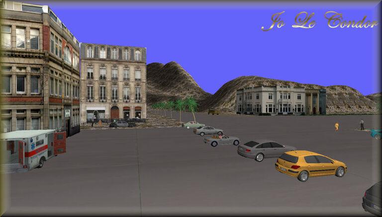 Ma ville sous un autre angle.....Toujours en 3D