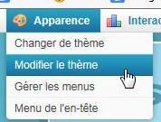 Déplacer ou  changer le menu de l'en-tête ( header )