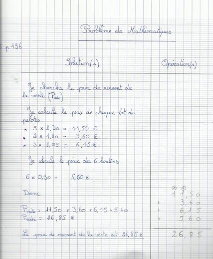 CM2 : Corrigés Mathématiques (1)