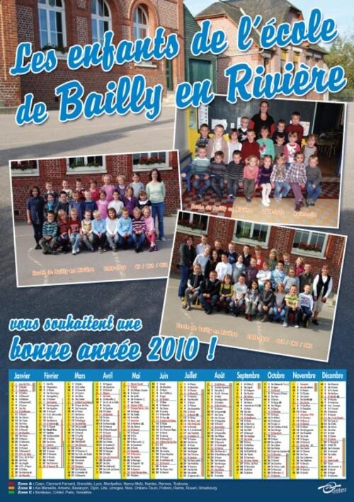 Calendrier Ecole de Bailly en Rivière