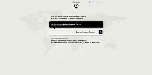 Worldcam - Finder Instagram photos by location