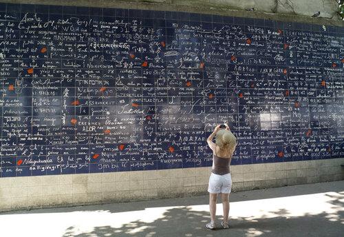 """Connaissez-vous  """" Le Mur des Je t' Aime """""""