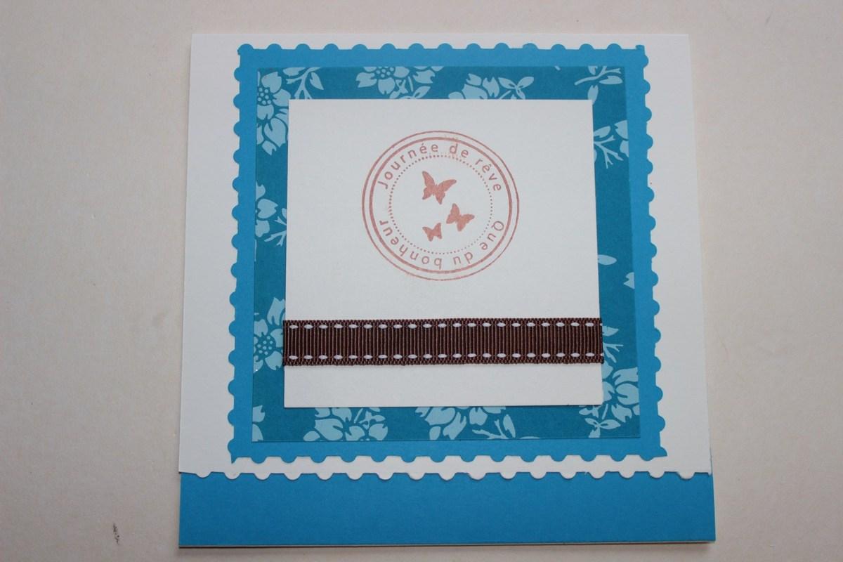 N°7 Superposition de papiers découpés plus ruban et tampon