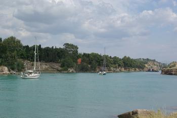 entrée des bateaux de plaisance, côté golfe de Corinthe (mer Ionienne)