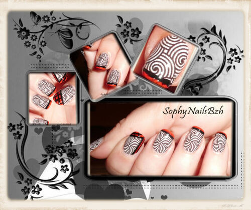 Nail Decal Spirale + Nail art