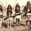 Apache warriors - (from left) Yahnozha, Chappo, Fun and Geronimo. Photo by C.S. Fly. Cañon de los E