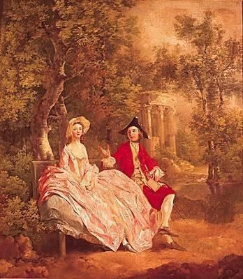1002205-Thomas Gainsborough Conversation dans un parc