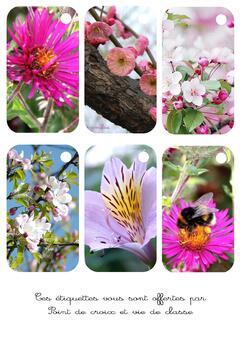 Cartonnettes fleurs à imprimer