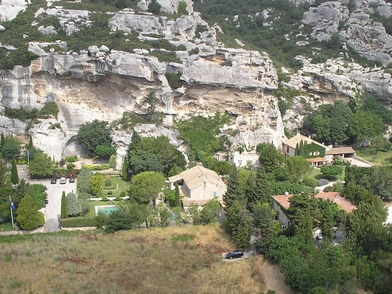 Vue sur la plaine des Baux de Provence
