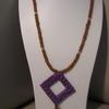 collier violet marron 8euros