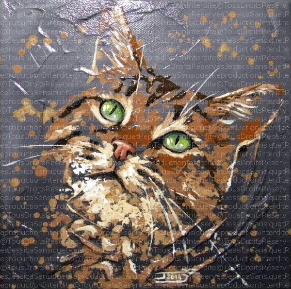 Peintures animalières de : Jessica Sansiquet