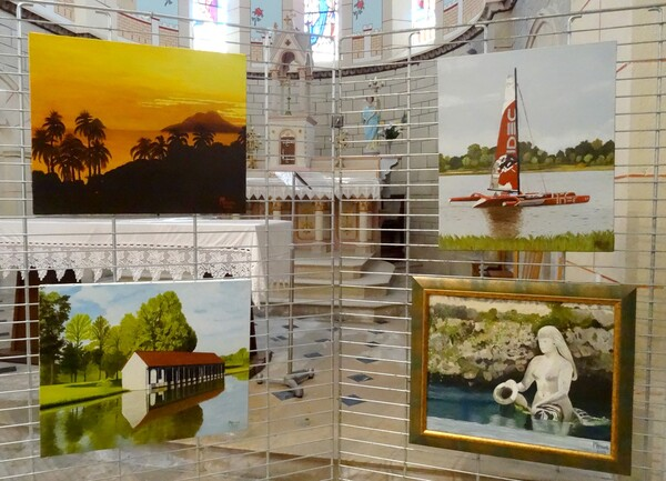 Exposition de peintures dans l'église de Gevrolles, par les Amis du Châtillonnais