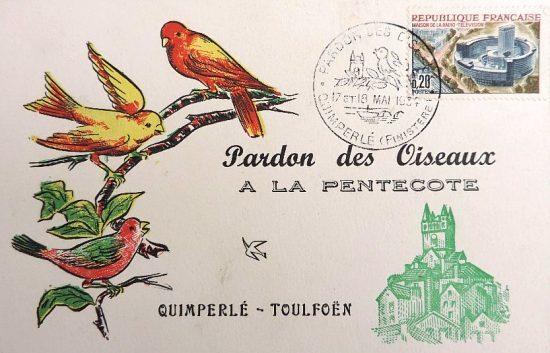 Pardon des Oiseaux à Quimperlé. Carte de 1964