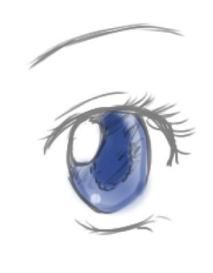 Oeil By Etincell colo' by moi !