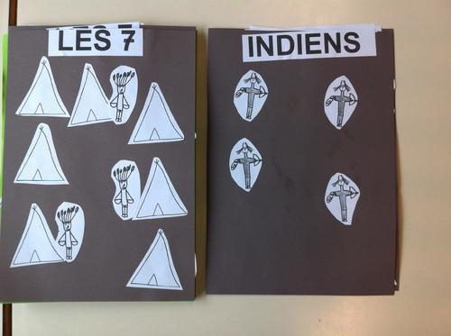 Décomposition du 7 pour l'album à calculer avec les indiens
