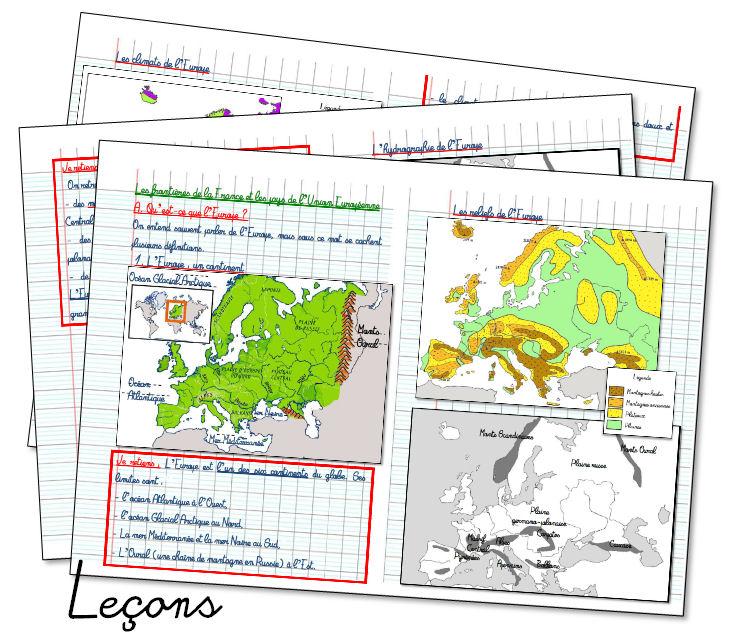 Carte De Leurope Geographique Cycle 3.L Europe Un Continent La Classe De Maoam