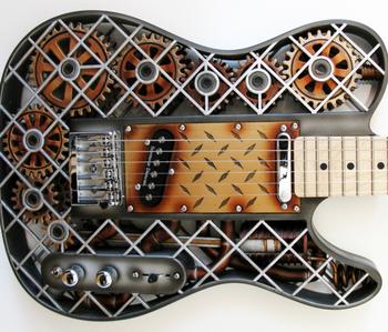 le concepteur d'odd guitars olaf diegel a créé des dizaines de modèles en 3d.