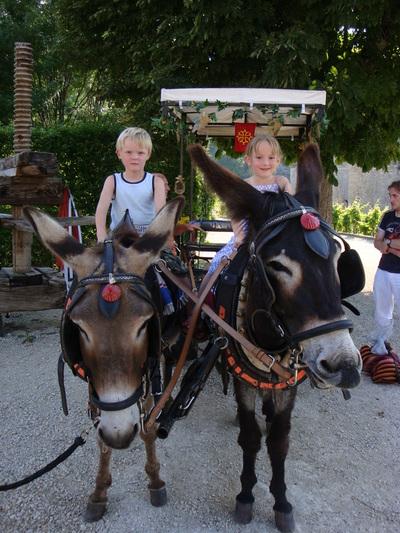 Blog de melimelodesptitsblanpain :Méli Mélo des p'tits Blanpain!, Découverte du vieux Cahors avec les ânes!