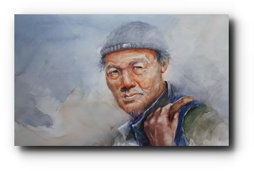 autre pêcheur... l'aquarelle