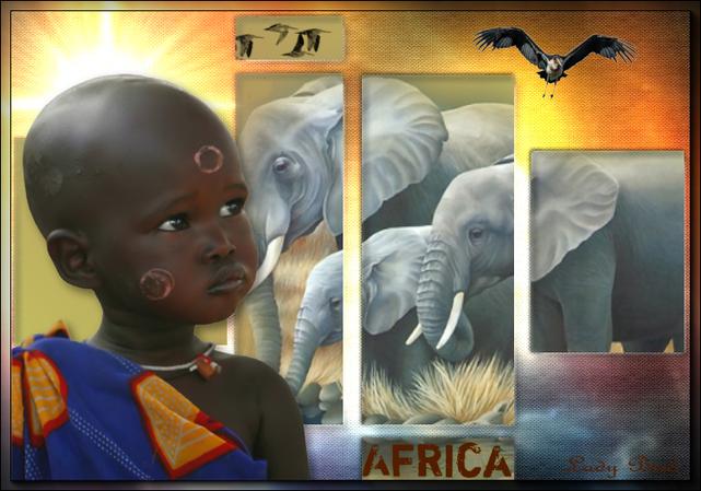 """défi """"Afrique"""" chez notre amie Nastia"""