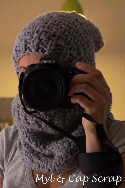 Mylène : Snood et bonnet femme