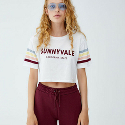 Crop Top Bandes Manches
