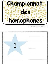 Le championnat des homophones