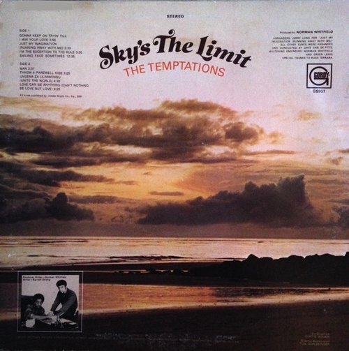"The Temptations : Album "" Sky's The Limit "" Gordy Records GS 957 [ US ]"