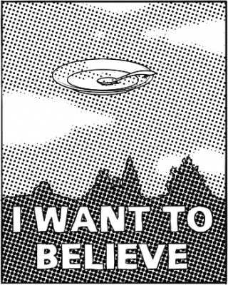 """Affiche """"i want to believe"""""""