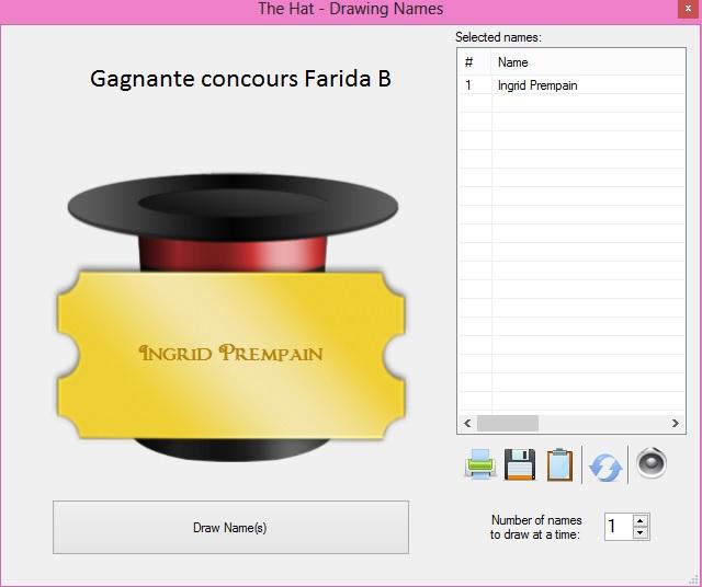 concours Farida B =====> Edit résultats
