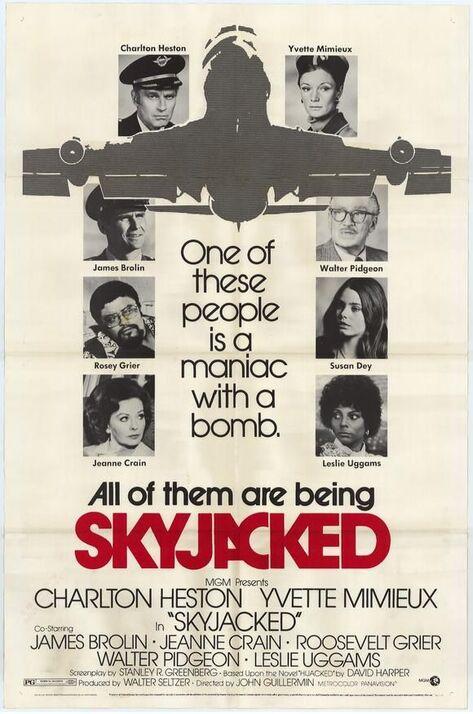 SKYJACKED BOX OFFICE USA 1972