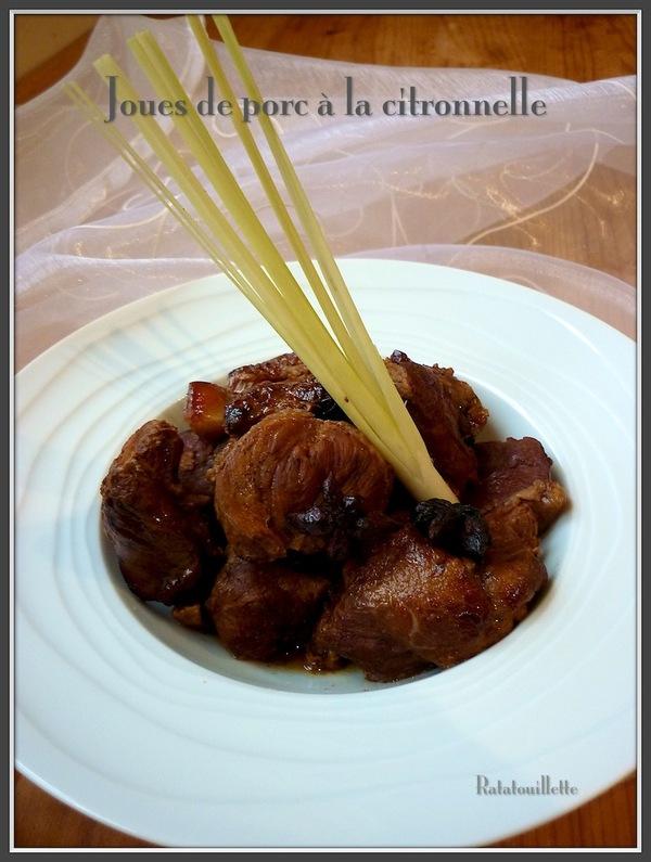 Joues de porc à la citronnelle (recette en mijoteuse)