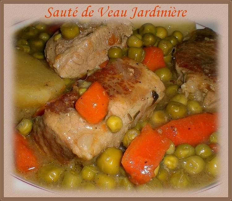 Recette de cuisine : Sauté de veau jardinière
