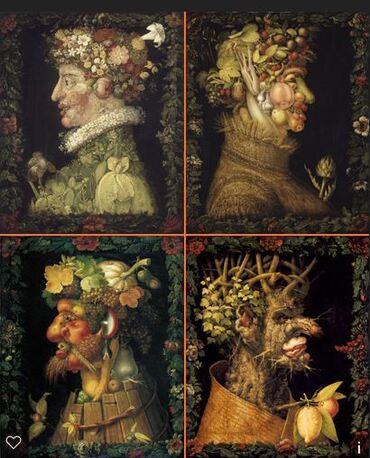 Archimboldo, les saisons et production d'écrit (cp)