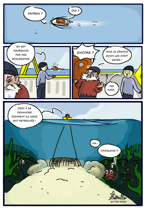 La Pêche à la drague environnement mer BD anguillecomics