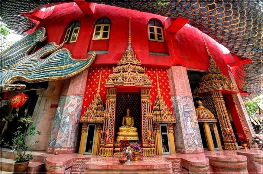 Temple du dragon Wat Samphran Thaïlande