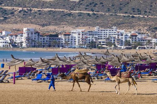 Agadir  - Coté plage et corniche