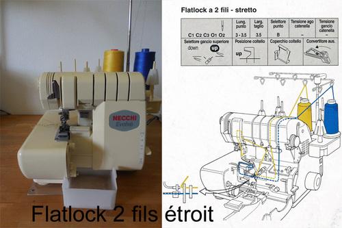Surjeteuse Flatlock 2 fils étroit