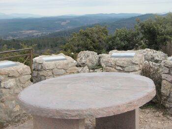 La table d'orientation du rocher du Gueit