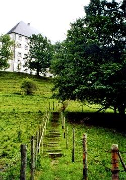 Grüne Treppe zum Hohen Schloss