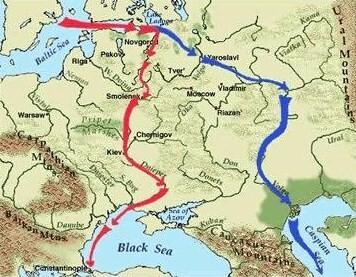 La route des Varègues aux Grecs