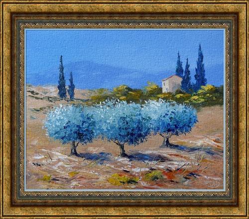 Dessin et peinture - vidéo : Les oliviers de Provence, au couteau 1 - peinture à l'huile ou à l'acrylique.
