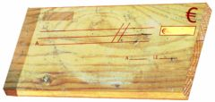 Deux lapins et un chèque en bois