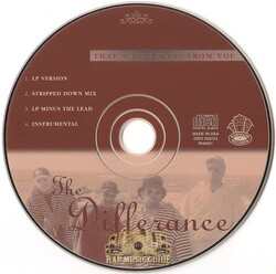 THE DIFFERANCE - THAT'S ALL I WANT FROM YOU (CDM 1995)