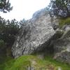 Mégalithe au-dessus de la borne frontière numéro 262