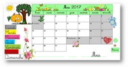 Calendriers TBI mai 2017