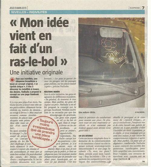 """Wolu1200 : """"Tu veux ma place ? Alors prends mon handicap"""" dans la presse bruxelloise"""