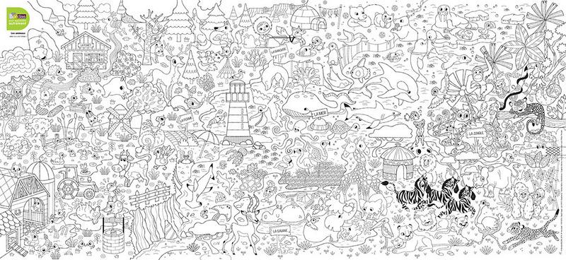 Des posters à colorier en fonction des thèmes   L'école de Crevette